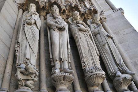 Notre Dame de Paris is a big Gothic cathedral Stock Photo - 13002363