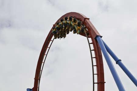 Dragon Khan is a attraction in Port Aventura in Catalonia Spain Salou Tarragona