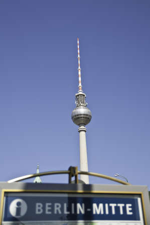 berliner fernsehturm is a television tower un berlin germany Editorial