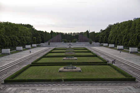 adolf: Treptower park is a park along the river Spree in Alt-Treptow Editorial