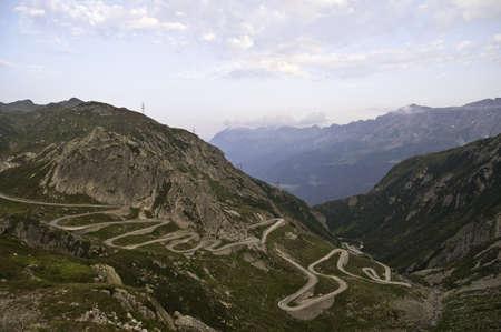 The Gotthard Pass iis a high mountain pass in Switzerland Stock Photo - 14971623