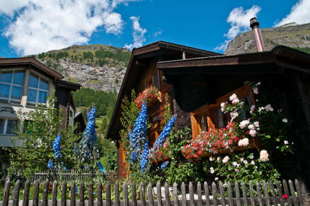 valais: Zermatt is a municipality in the district of Visp in the German-speaking section of the canton of Valais in Switzerland Editorial