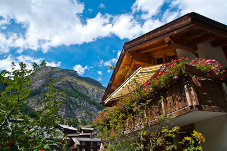 valais: Zermatt is a municipality in the district of Visp in the German-speaking section of the canton of Valais in Switzerland Stock Photo