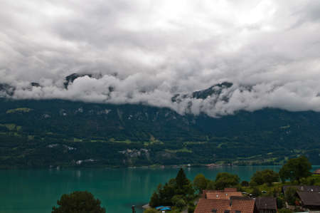 Oberried am Brienzersee is a little town in Switzerland Stock Photo
