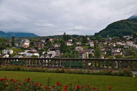 Spiez is a little town in Bern Switzerland Stock Photo