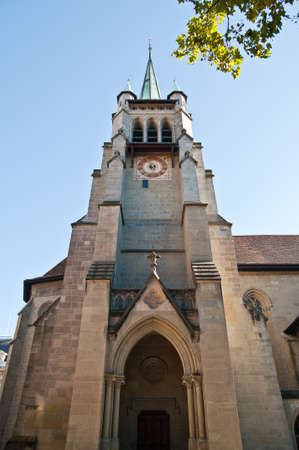 protestant: Lausanne Cathedral protestant ghotic church Vaud Switzerland