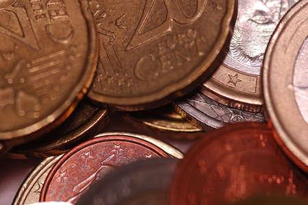 Coin macro detail euro europe pay iron Stock Photo - 17857379