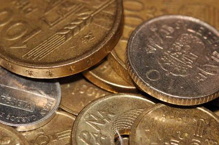 Coin macro detail euro europe pay iron Stock Photo - 17857320