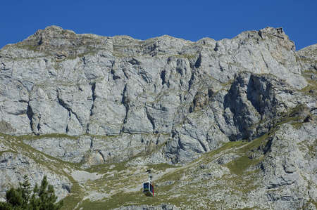 picos: Cable way in Picos de Europa Asturias Spain
