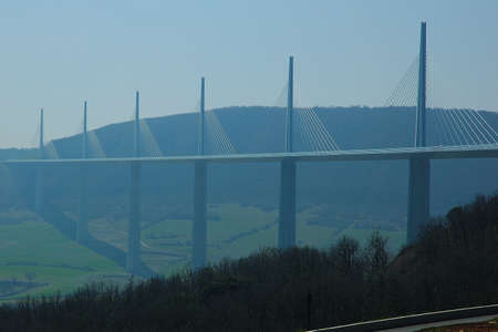 millau: Millau bridge more high world Norman Foster Stock Photo