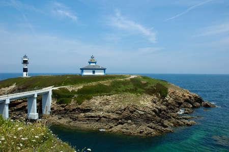 asturias: Ribadeo L�lighthouse Galicia Asturias Cantabrico sea Spain