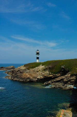 galicia: Ribadeo L�lighthouse Galicia Asturias Cantabrico sea Spain