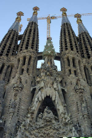 Sagrada familia cathedral in Barcelona Catalonia Spain