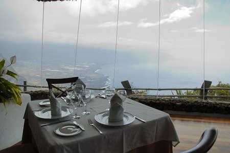 mirador: Mirador de la Pena in El Hierro Island Stock Photo