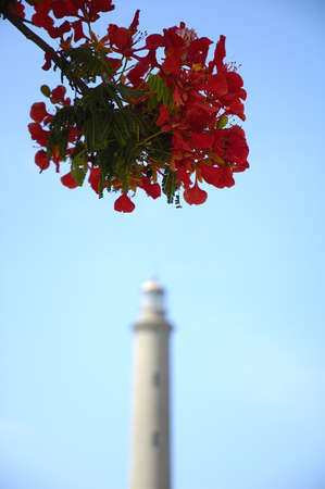 Maspalomas lighthouse in Gran Canaria in Spain photo