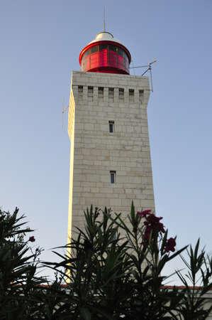 alpes maritimes: Lighthouse in Garoupe Antibes  Alpes-Maritimes  Mediterranean sea