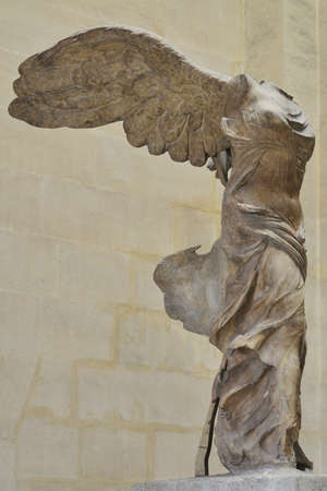 The Winged Victory of Samothrace one of the best-known ancient Greek statues