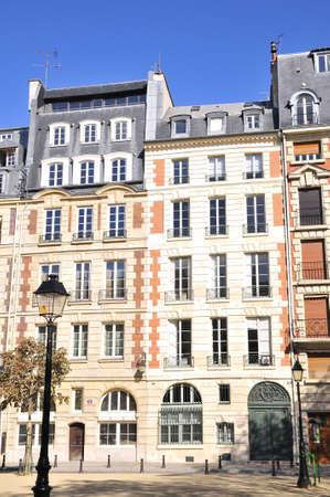 cite: Dauphine square is a little square in cite paris frances Stock Photo