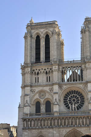 Notre Dame de Paris is a big Gothic cathedral Stock Photo - 18961910