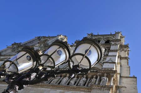 Notre Dame de Paris is a big Gothic cathedral Stock Photo - 18962031