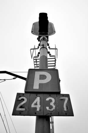 Rusty old Train light post number signal Stock Photo - 18961913