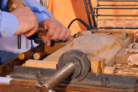 cabinetmaker carpenter working the wood