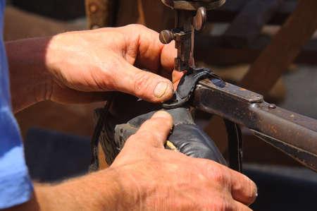 shoemaker cobbler make a shoe