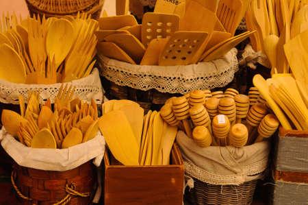 utensils handcrafted wooden