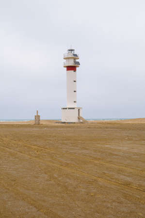ebre: Lighthouse fangar in the Ebro Delta in Catalonia Spain