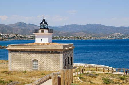 selva: Far de Sarnella is a lighthouse in Port de la Selva, Costa Brava, Catalonia, Spain