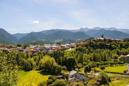 La Cerdanya is a mountainous region of Catalunya Stock Photo