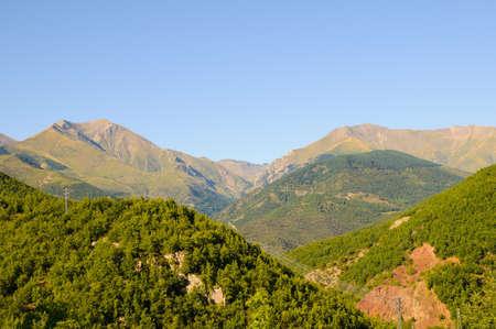 The Pont de Suert is a mountain village in Catalunya Stock Photo