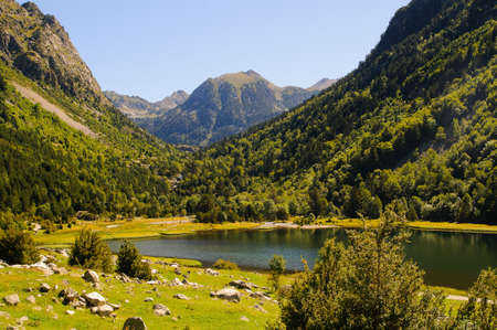 Aiguestortes is a national park in catalonia pyrenees spain Stock Photo