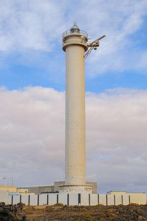 Punta del gavioto is a lighthouse in Puerto del Rosario Fuerteventura island Stock Photo