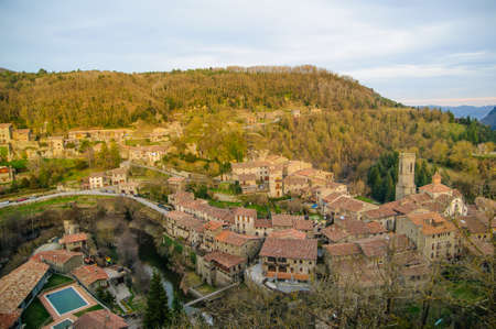 fabregas: rupit i pruit is a little town in barcelona catalonia spain Stock Photo