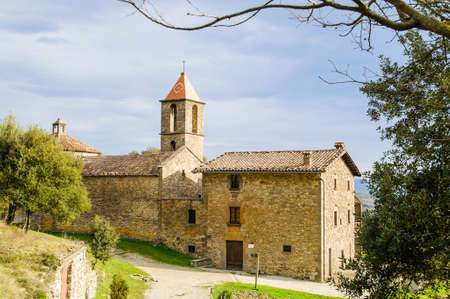 Sant Joan de Fabregues is a XI century church in rupit i pruit barcelona catalonia spain Editorial