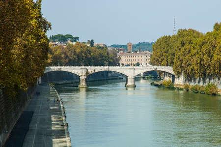 cavour: Cavour bridge in Roma Italy in Europe Stock Photo