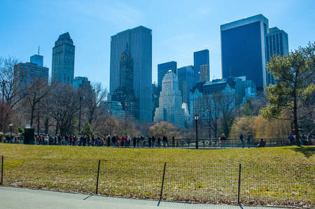 Central Park in Manhattan New York America Stock Photo