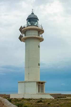 formentera: Barbaria cape lighthouse in Formentera Balearic island Stock Photo