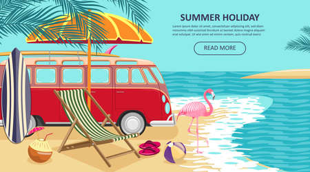 summer holiday background design