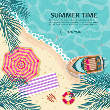 summer time background design Иллюстрация