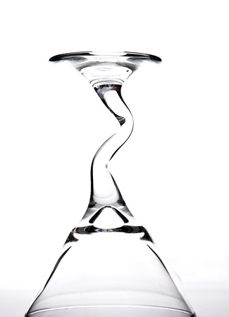 A zig-zag stemmed glassware.