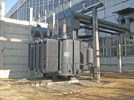 High voltage converter at a power plant