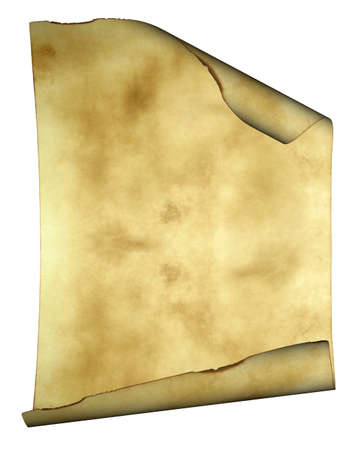 Old paper background parchment with curled burned edges and space for text or image photo