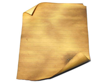 Old lined burned paper background with empty space for text or image Stock Photo - 3562943