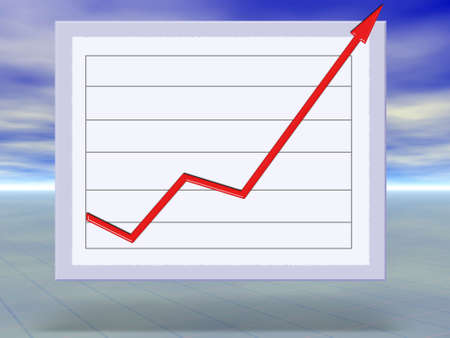 business success and growth graph concept illustration Stock Illustration - 3674709