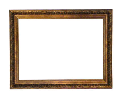Empty picture gold frame with a decorative pattern Stock Photo - 3729473