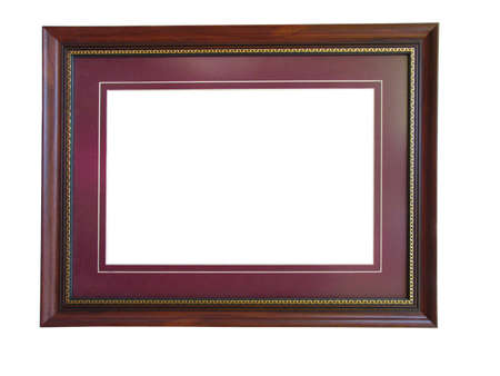 Empty wooden picture frame with a decorative pattern Stock Photo - 3729484