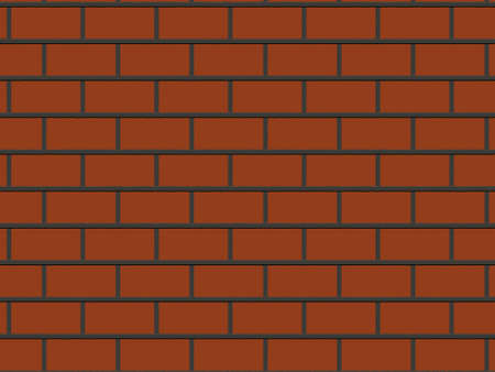 abstract close-up red brick wall background rendered from 3D photo