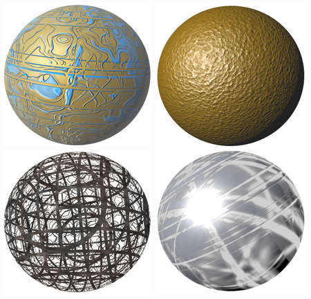 metall: colored abstract pattern metallic spheres high quality rendered from 3d Stock Photo